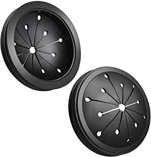 WXJ13 2 Pack Black Rubber 3-1/8 inch Garbage Disposal Splash Guard Sink Baffle for Kitchen or Bathroom