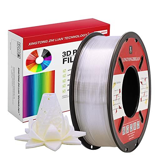 PLA Filamento Materiali Filamenti per Stampa 3D 1.75 mm Stampante 3D a Filamento Printer Filament per Penna 3D Precisione +/- 0.02 mm 1kg/una Bobina Trasparente