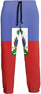 NTQFY Haitian Flag Men's Sweatpants Comfy Jogger Pants with Pockets Lightweight Athletic Pant