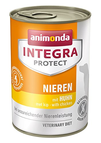 animonda Integra Protect Diät Hundefutter, Nassfutter bei chronischer Niereninsuffizienz, mit Huhn, 6 x 400 g