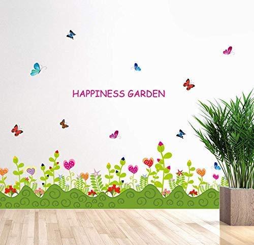 Neue Diy Pflanze Wanddekoration Aufkleber Blumen Wandaufkleber Wohnzimmer Kleiderschrank Fenster Innenausstattung 136X42Cm