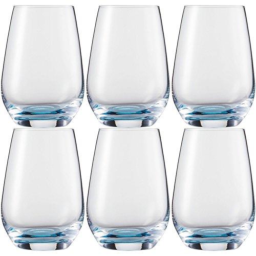 Schott Zwiesel Becher, Glas, blau, 28.7 x 19.6 x 13.3 cm, 6-Einheiten
