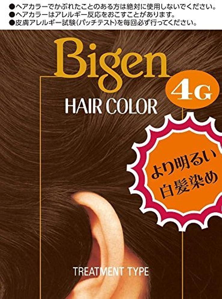 電子レンジボトル慢ホーユー ビゲン ヘアカラー 4G (自然な栗色) 40mL+40mL ×6個