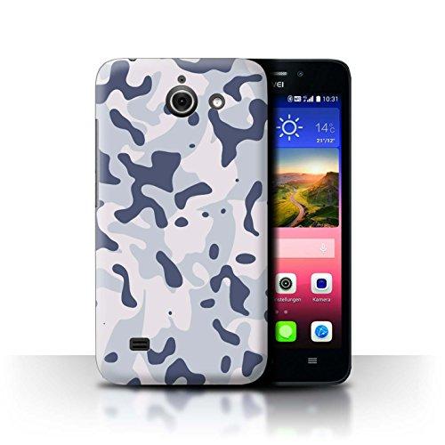 Stuff4 Hülle/Hülle für Huawei Ascend Y550 LTE/Arktischer Sibirischer Schnee Muster/Militär Camouflage Tarnung Kollektion
