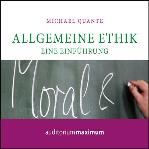 Allgemeine Ethik. Eine Einführung Titelbild