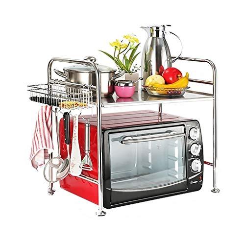 BNcfzwj Muebles de Cocina Parrilla de Almacenamiento Acero Inoxidable 304 Soporte de Suelo Multifunción Horno microondas