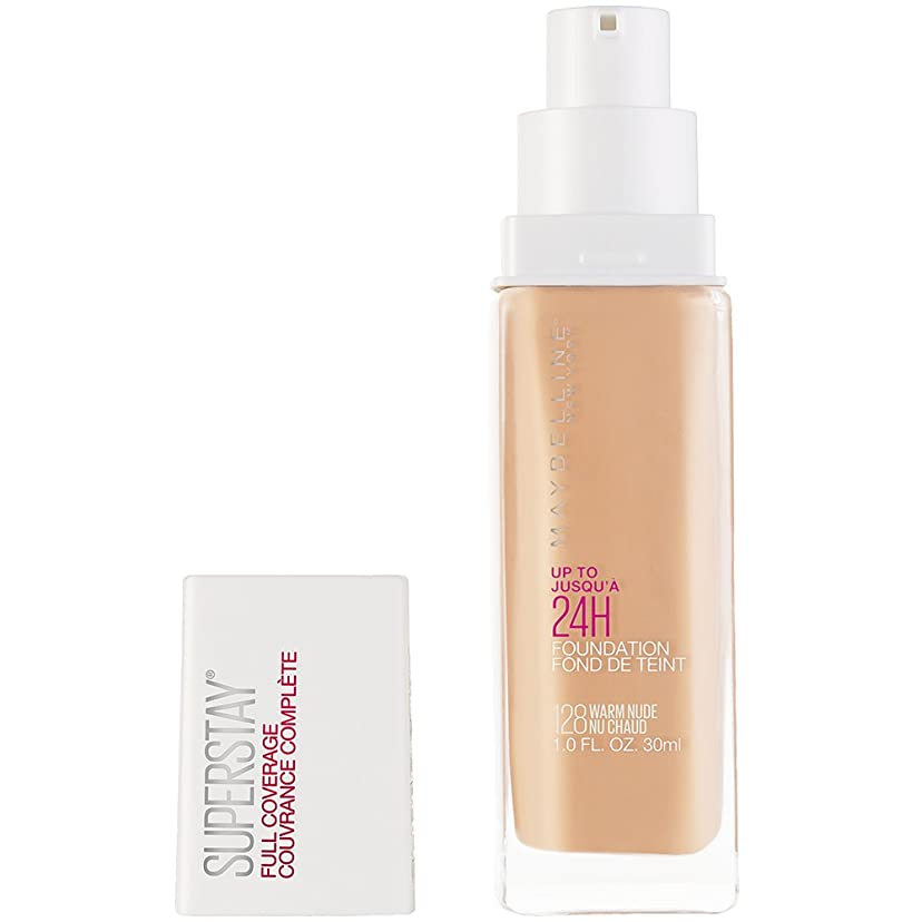 モンクバンド冷淡なMAYBELLINE Superstay Full Coverage Foundation - Warm Nude 128 (並行輸入品)