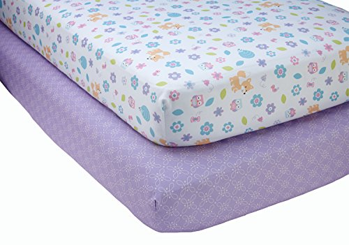 Little Love by NoJo Adorable Orchard - 2 Count Crib Sheet Set - Multi-Colored