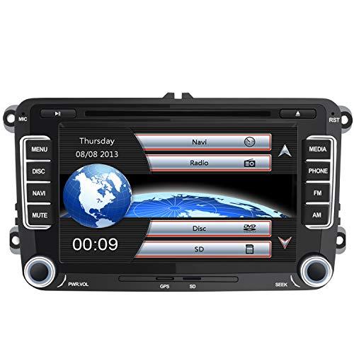 AWESAFE Radio Coche 7 Pulgadas con Pantalla Táctil 2 DIN para Volkswagen, Autoradio para VW Passat Transporter Polo Seat Altea Skoda Jetta Touran Caddy Sharan y Muchos Modelos de VW