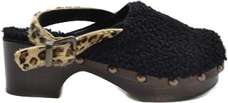 Luxury Fashion | Avec Moderation Women MCBI39453 Black Leather Wedges | Season Outlet