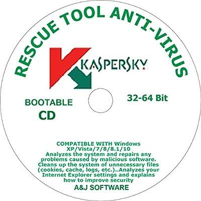 RESCUE DVD TOOL BOOTABLE ANTI-VIRUS COMPATIBLE WITH WINDOWS 10.8.8.1.7.VISTA.XP 32-64-Bit