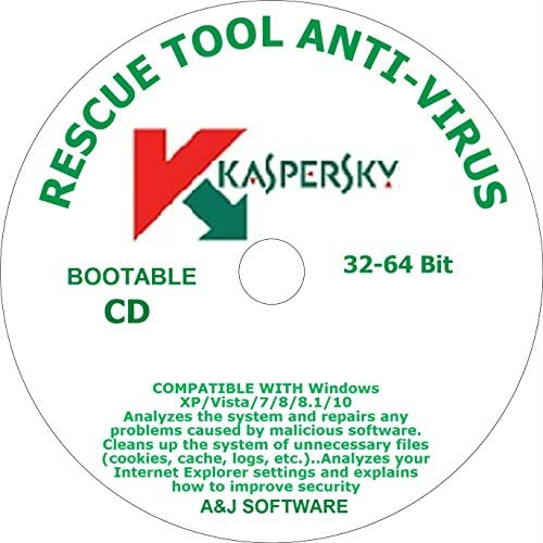 RESCUE DVD TOOL BOOTABLE ANTI VIRUS COMPATIBLE WITH WINDOWS 10 8 8 1 7 VISTA XP 32 64 Bit product image
