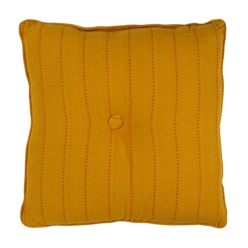 Thedecofactory 401453 kussens, polyester, geel, 40 x 40 x 3 cm