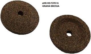 Smeriglio mola per affilatoio affettatrice grana grossa /ø40 h10 foro 6 mm