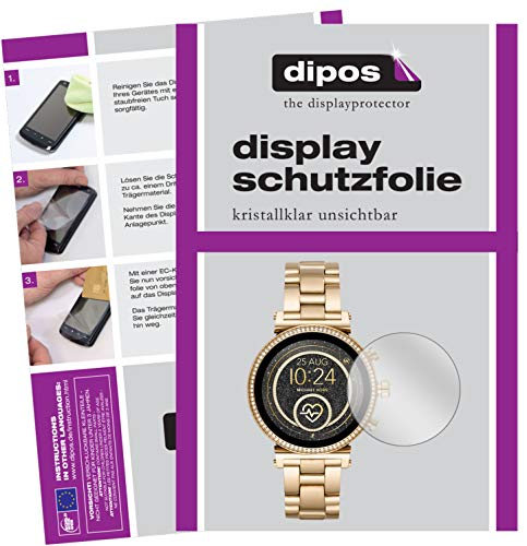 dipos I 6x Screen Protector compatibel met Michael Kors Sofie 2.0 Smartwatch Protection Films duidelijk