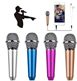 Mini Microphone with Omnidirectional Stereo Microphone, can Record, Chat and Sing on Apple Phone, Android (Rose Gold)