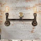 YINGGEXU Lámpara de Pared de Lámpara de Pared lámpara de Pared de la Vendimia Edison Estudio de fontanería Pasillo Restaurante Bar Hierro E27 Antiguas Luces, Color Bronce Decorativo