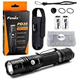 Fenix PD35 TAC Tactical Edition LED Flashlight 1000 Lumens with 2 CR123 Batteries and Lightjunction Battery Case