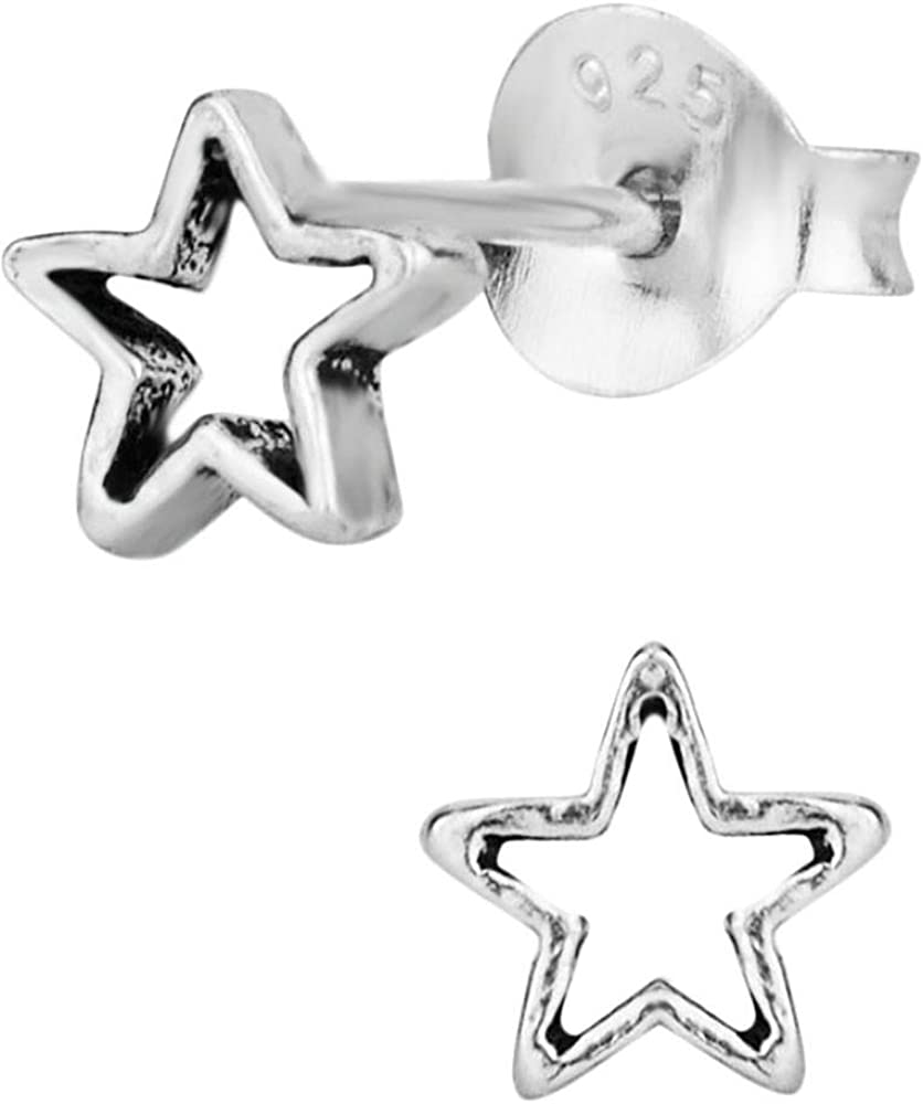 Hypoallergenic Sterling Silver Tiny Star Kids Stud New Free Shipping for Earrings Topics on TV