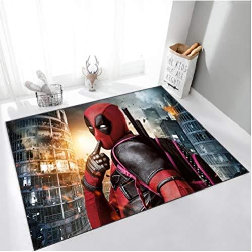 chengcheng Deadpool Marvel Carpet Avengers Esteras Creativas para niños Alfombrillas para el Dormitorio 160x120cm