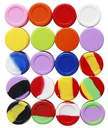 Bassion 20Pcs 5ml Silicone Multi-Use Storage Jars, Assorted Colors