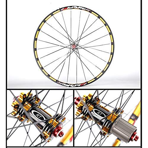 TABN Aluminiumlegierung Radsatz Mountainbike Radsatz 120 Ring 5 Palin, Gerade Ziehen Carbon Blume Trommel Scheibenbremse Fahrrad 26