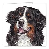 Tarjeta de felicitación de cumpleaños con diseño de perro de montaña bernesa WaggyDogz