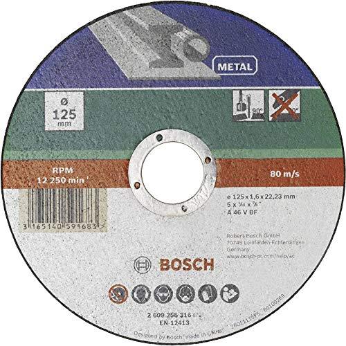 Bosch Home and Garden 2609256314 Disco da Taglio Dritto, Metallo, 115 x 22.23 x 1.6 mm