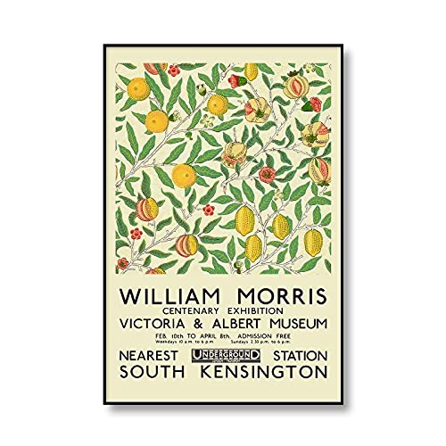 Impresión de la exposición del museo, póster de flores y pájaros de William Morris, cuadro de girasol, lienzo sin marco familiar, pintura A4 15x20cm