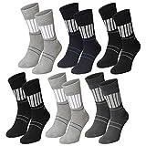 Lavazio® 6   12   18   24 Paar Herren Arbeitssocken Sportsocken Thermo Socken dick und herrlich in dunklen Farben, Farbe:mehrfarbig, Größe:43-46