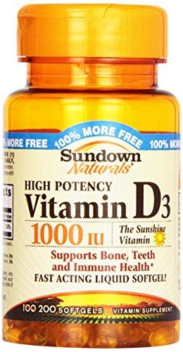 Vitamina D Sundown 2000UI c/ 200 Cápsulas