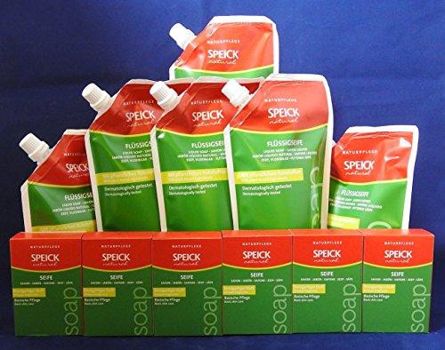Speick Flüssigseife und Seifen Paket jeweils 6 Stück