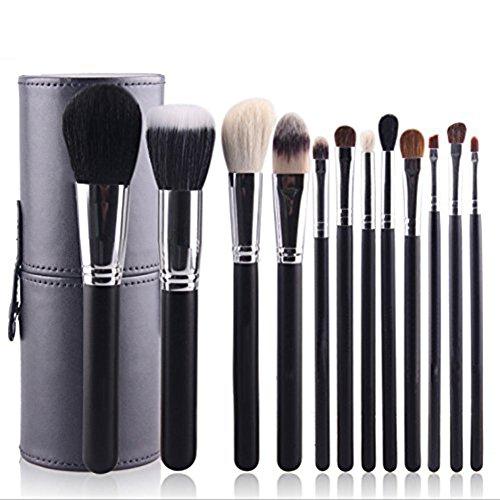 Emorias 12pcs/ensemble Brosse de maquillage incroyable Belle brosse de fard à joues Brosse de fondation Brosse à paupières Kit de brosse