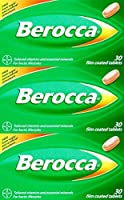 THREE PACKS of Berocca 30 Film Coated Tablets by Berocca