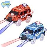 codomoxo Police and Rescue Cars, 2019 Special New Mini Toy Car con 5 Luces LED, Accesorios de Juguete para Pistas mágicas (Policía y vehículos de Rescate)