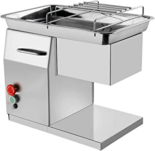 NEWTRY Commercial Meat Cutter Cutting Machine with 3 Blades 551LBS/H 550W Electric Stainless Steel QX Fresh Meat Shredded Slicer Processing Machine