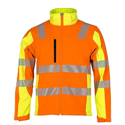ASATEX Prevent Trendline Softshell-Jacke PTW-DS, orange/gelb, Gr. L