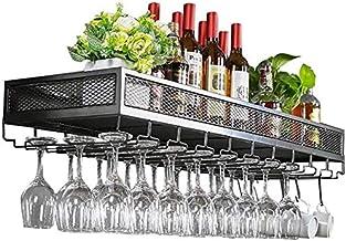 Bar Unit Drijvende Planken Wijnrekken Wandhouder Fles en Glas Houder Rustieke Wijnhouder Wandplank Opslag Rack Vintage Wan...