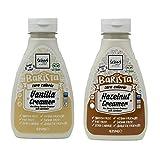 The Skinny Food Co. Barista 5060478789093 - Crema de vainilla y crema de avellanas sin azúcar, sin calorías, 2 unidades de 425 ml