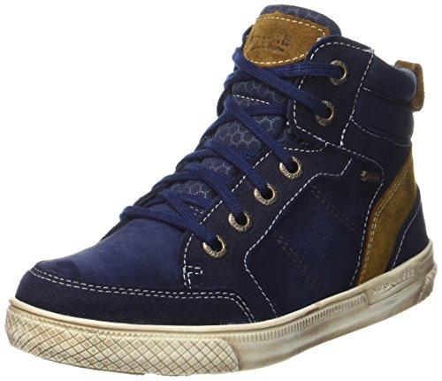 Superfit Jungen Luke Hohe Sneaker, Blau (Ocean Kombi), 36 EU