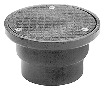 3-3//4 Height 6-1//2 Diameter 4 Pipe Size Zurn CO2510-NH4 Cast Iron Non-Adjustable No-Hub Cleanout