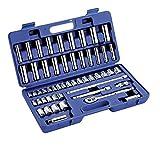 Westward 6XZ83 Socket Set, 53 Pieces