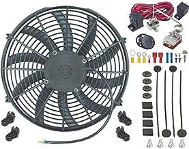 American Volt Single 12V Electric Engine Radiator Cooling Fan & Adjustable Temp Thermostat Controller Kit (14
