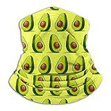 N/W Lindo alimento aguacate vegano polaina para el cuello, máscara para el sol, bufanda mágica, bandana pasamontañas, diadema que absorbe la humedad, protección UV