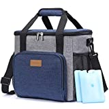 Lifewit Lunch Bag Soft Cooler Bag Insulated Box Soft Cooling Tote Picnic Bag with 2 Ice Packs for Men Women Blue