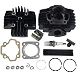JDMSPEED New Cylinder Piston Gasket 40cc Big Bore Top End Kit Replacement For Yamaha QT50 1979-1987 PW 50