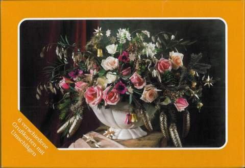 Grußkartenbox-weihnachtliche Blumensträuße