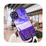Hoesjes Lavender-Q9-iPhone 12 Mini 11 Pro XS MAX XR X 6 6S 7 8 Plus Noir