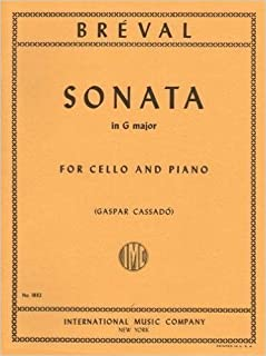Breval Jean Baptiste Sonata In G Major Op. 12 No. 5 for Cello and Piano by Cassado - International