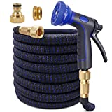 KAREEME 50ft Expandable Garden Hose Upgraded Flexible Water Hose with Three Latex Core